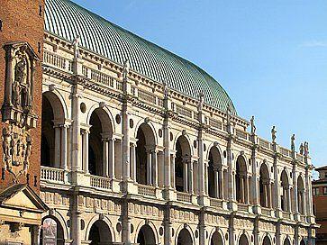 Dettaglio della Basilica Palladiana a Vicenza.