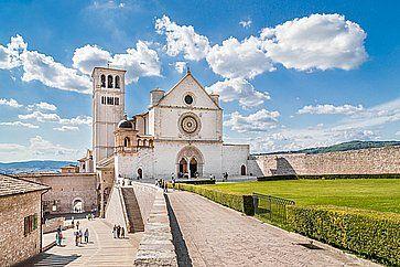 La Basilica di San Francesco d'Assisi.