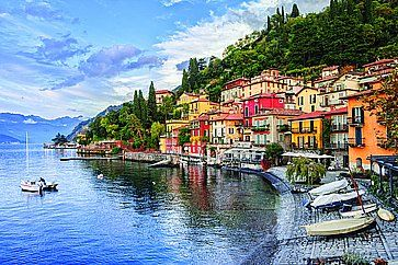 Il piccolo paese di Menaggio sul lago di Como.