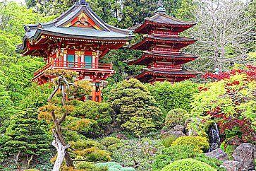 Giardino giapponese al Golden Gate Park di San Francisco.