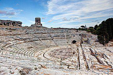 Il teatro greco di Siracusa.