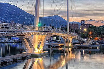 Ponte di Thaon di Revel nel porto di La Spezia.