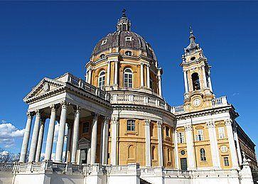 La Basilica di Superga sull'omonimo colle, a Torino.