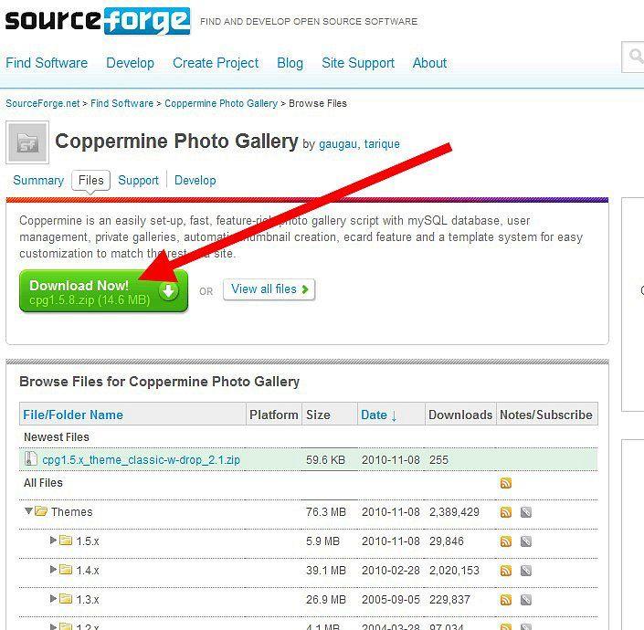 pagina download di coppermine