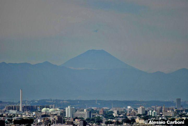 Il monte Fuji dal Keio Plaza