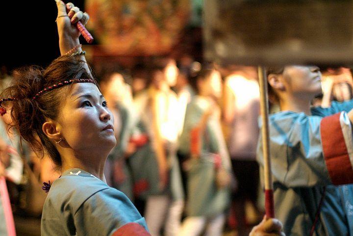 Una danzatrice durante il Nebuta Matsuri.