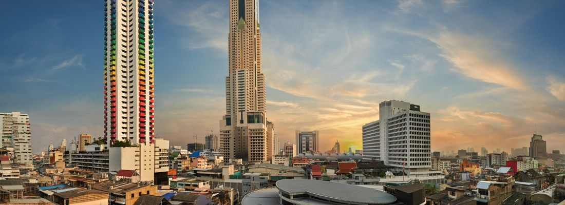 Il grattacielo Baiyoke Tower a Bangkok.