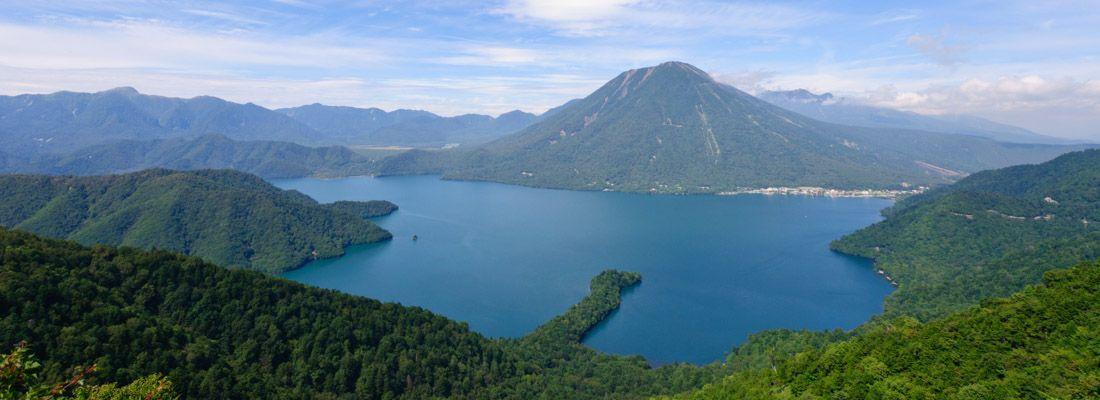 Vista del lago Chuzenji a Nikko.