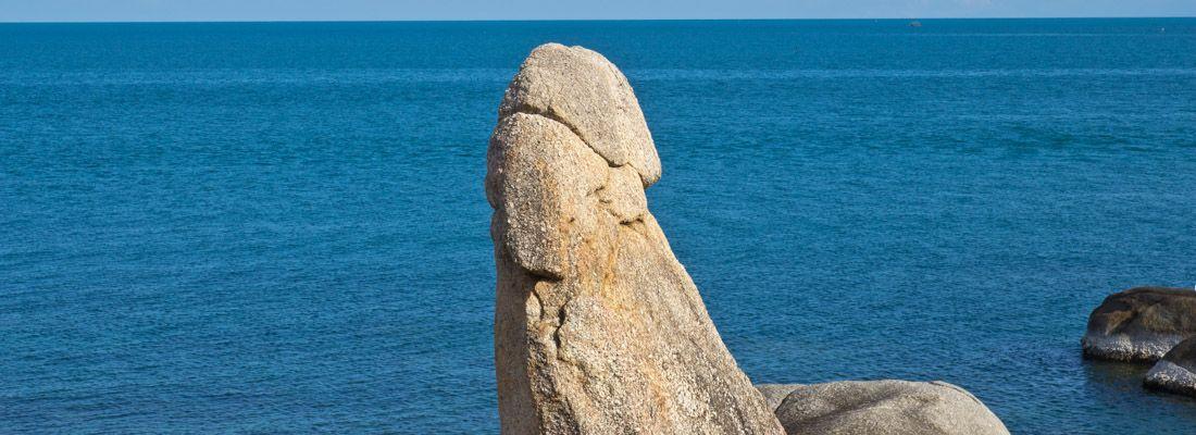 Le rocce della fertilità a Phuket.