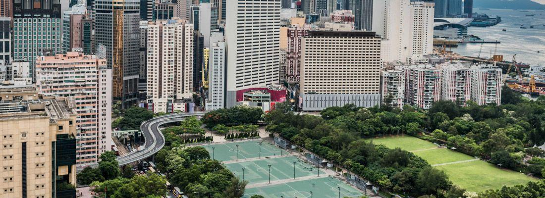 La vista di Victoria Park.