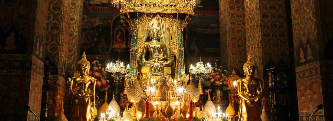 Decori al tempio Wat Pathum Wanaram.