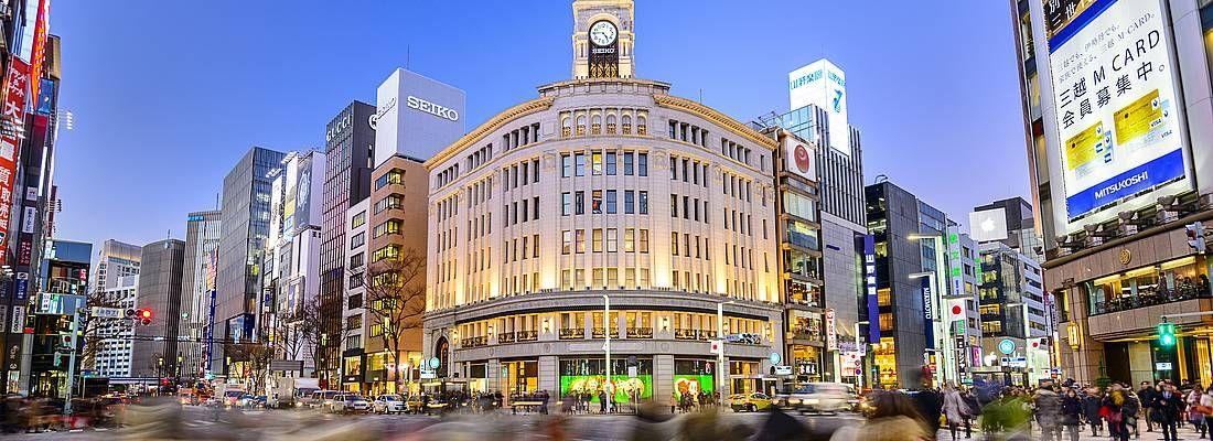Incrocio di Ginza, nei pressi dell'edificio Wako.
