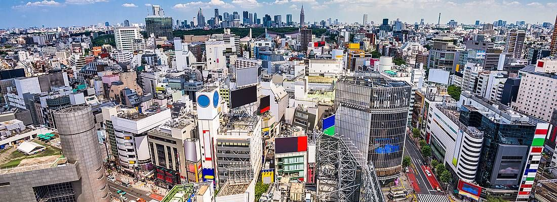 Vista di Shibuya dall'alto.