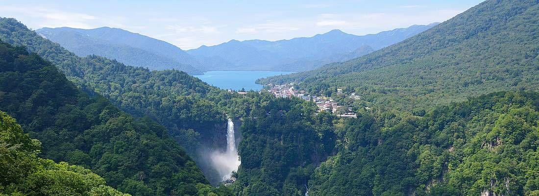 Vista dall'altopiano Akechidaira a Nikko.
