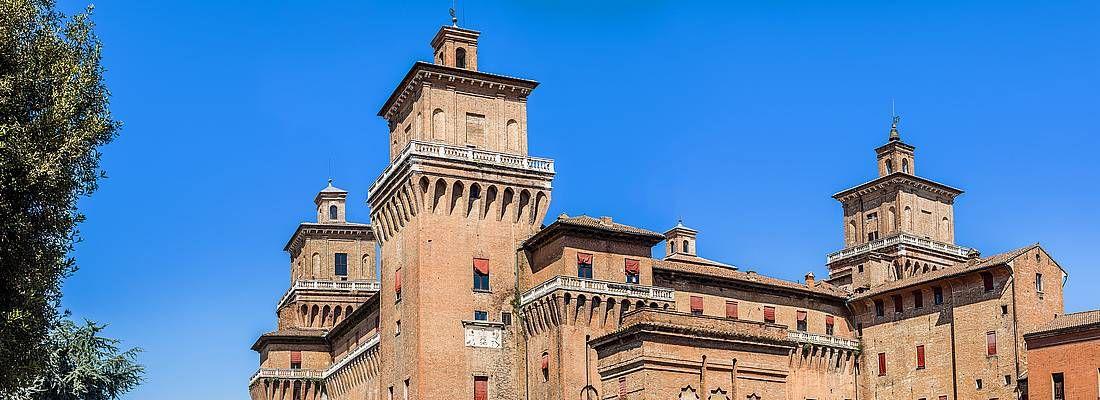 Il castello Estense di Ferrara.
