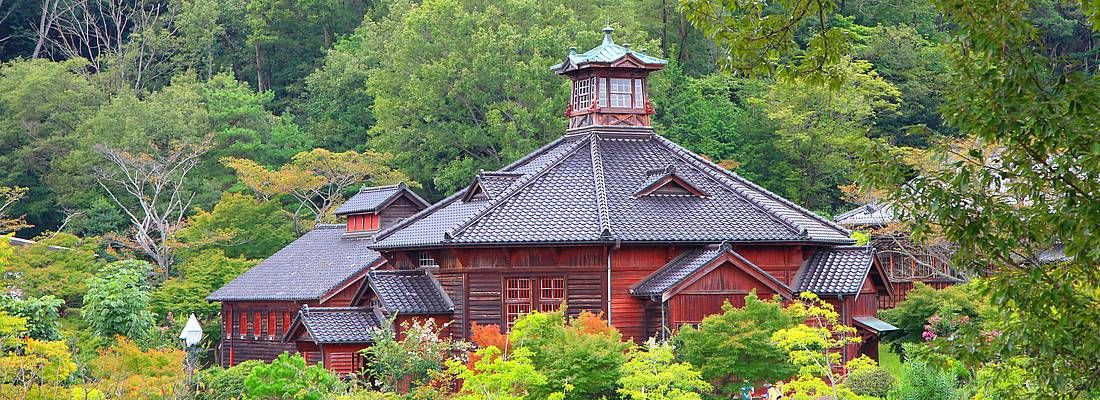 Costruzione tradizionale a Meiji Mura.