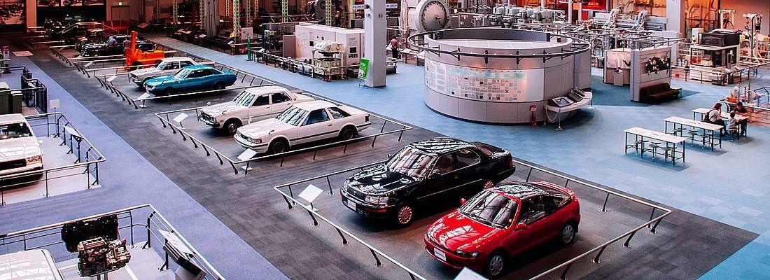 Auto in esposizione al Museo Toyota a Nagoya.