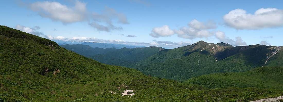 Foreste incontaminate a Nasu Shiobara, nei pressi del vulcano.
