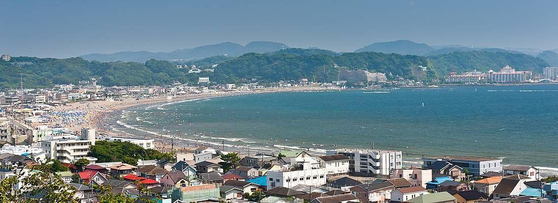 La spiaggia di Kamakura.