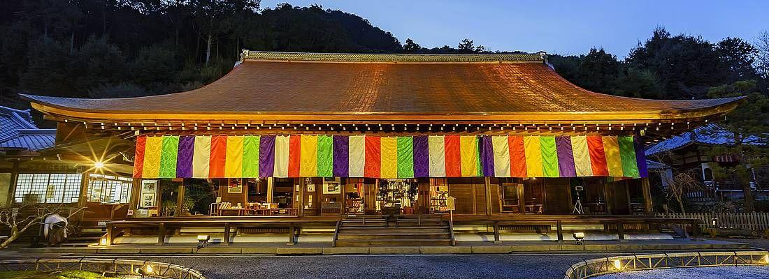 Il tempio Nison-in di notte.