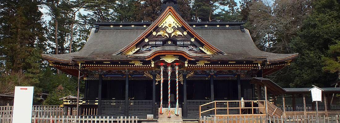 Il santuario Osaki Hachimangu a Sendai.