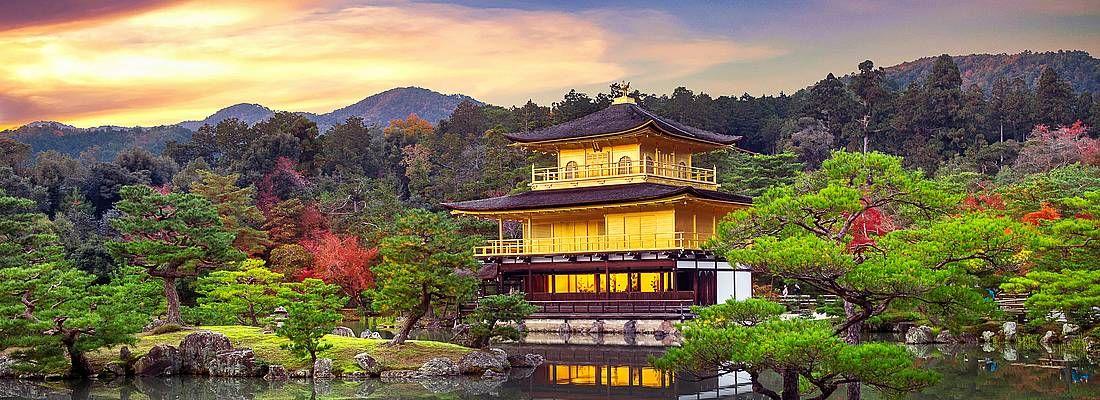 Il tempio d'oro Kinkakuji.