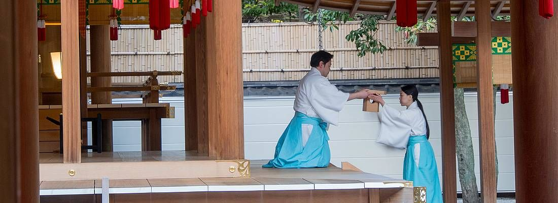 Cerimonia al santuario Nogi a Tokyo.