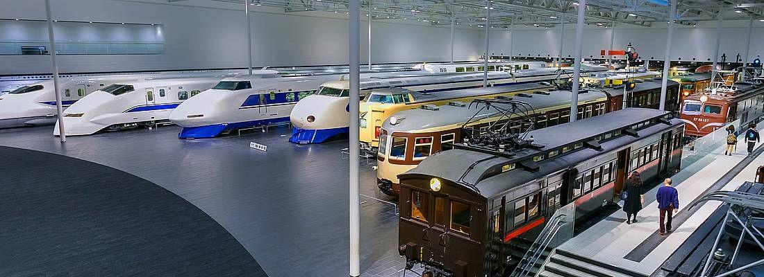 Treni in esposizione allo SCMAGLEV and Railway Park di Nagoya.