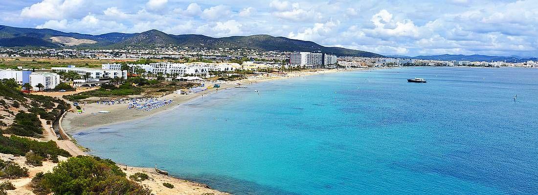 Il mare di Ibiza.