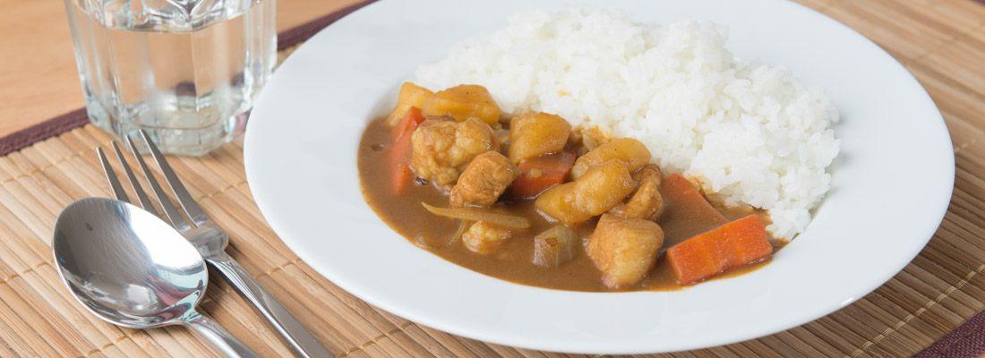 Piatto di curry rice.
