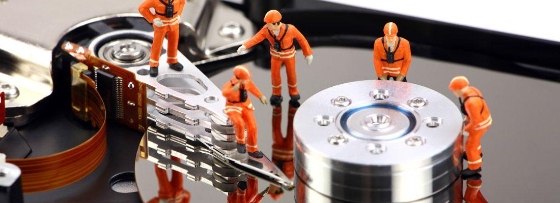 Interno di un hard disk.