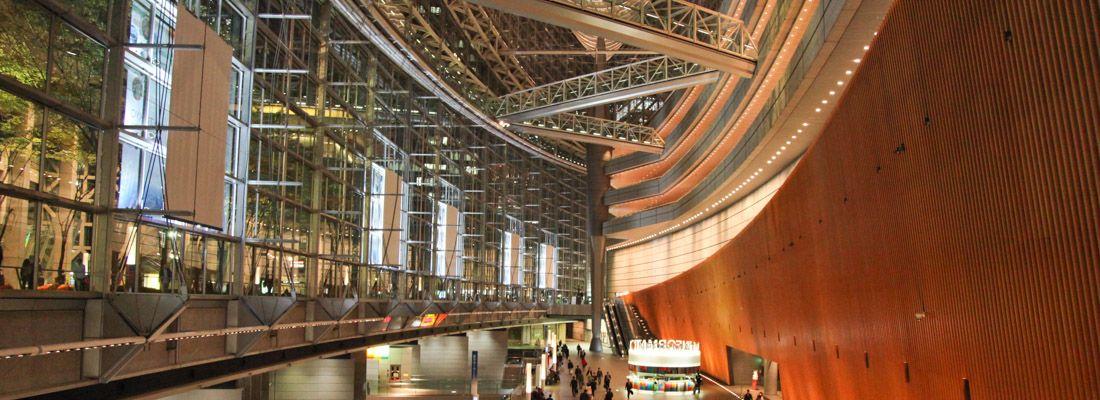L'atrio principale dl Tokyo International forum.