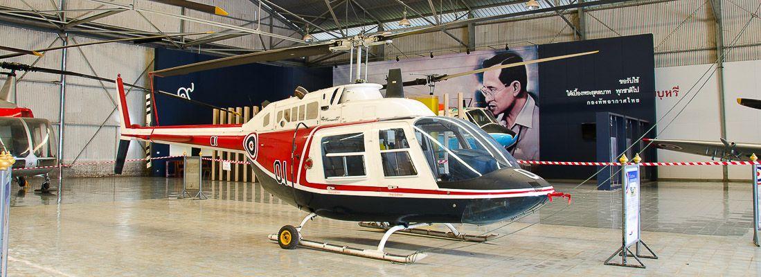 Elicottero in esposizione al Royal Thai Air Force Museum.