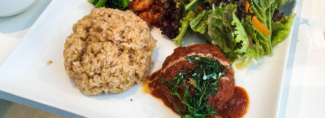 Piatto vegetariano al ristorante Handa Rosso.