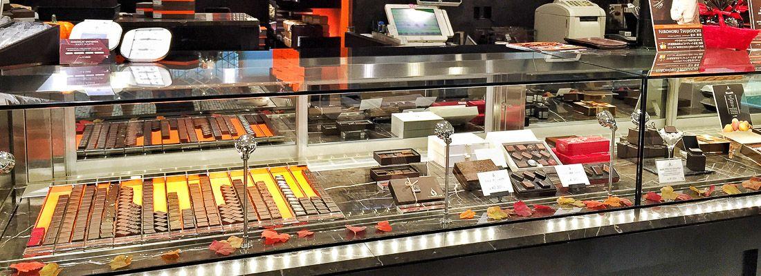 Cioccolatini in vetrina a Le Chocolat de H.