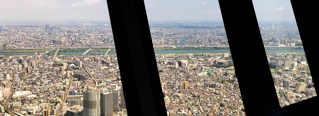 Il panorama visto dalla Tokyo Sky Tree.