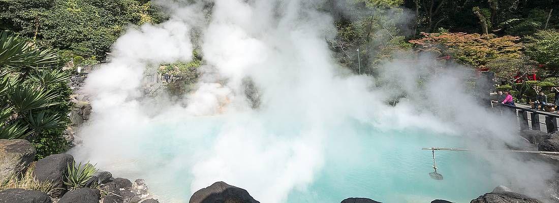 Vapori in uno degli inferni di Beppu.