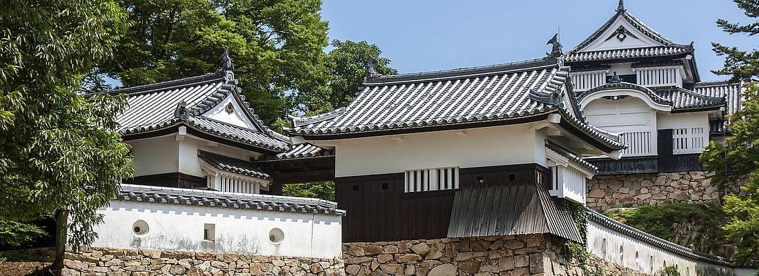 Il castello di Bitchu Matsuyama, sulle montagne di Okayama.