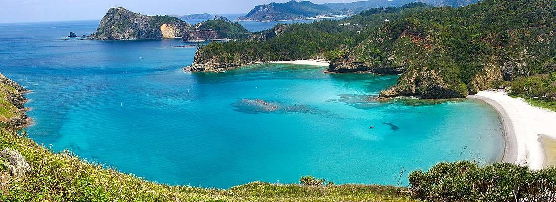 Spiaggia incontaminata alle Isole Ogasawara.