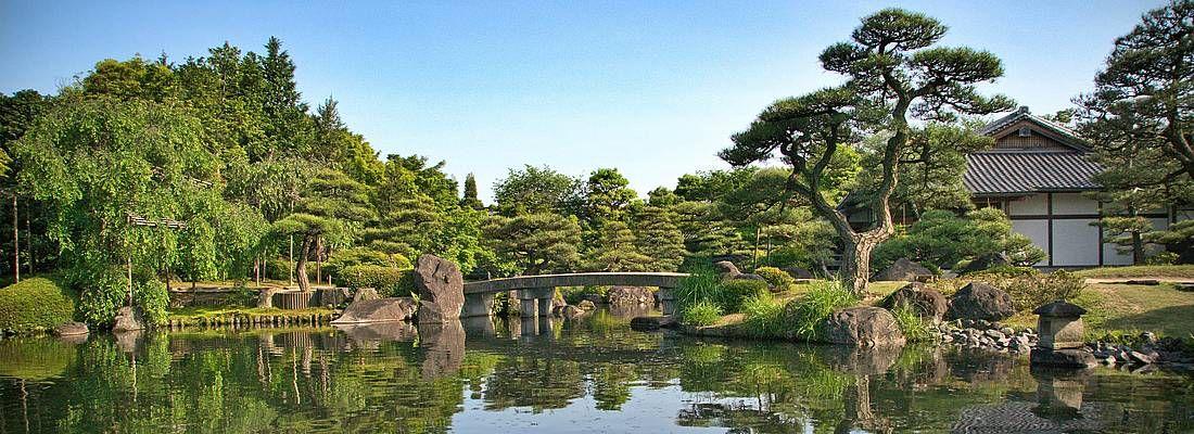 Lago al giardino Kokoen.