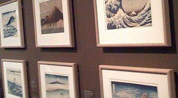 Dettagli di opere d'arte all' Ota Museum Ukiyo-e.