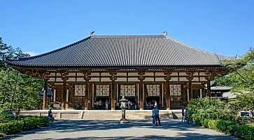 Il tempio buddhista Toshodai-ji.