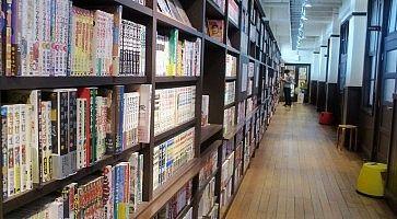 Manga in esposizione al Museo dei Manga a Kyoto.