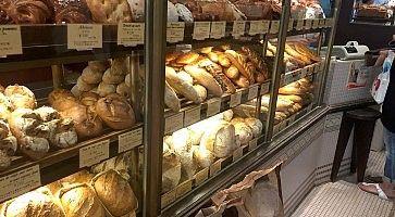 Pane in vendita nella panetteria Viron a Tokyo.