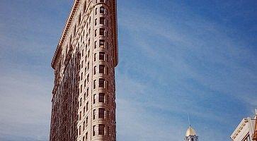 Dettaglio del Flatiron Building di New York.