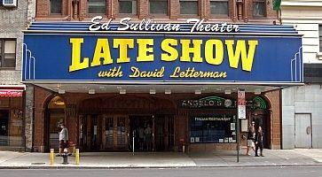 L'ingresso dell'Ed Sullivan Theatre.