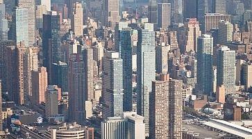 Vista di New York dall'elicottero.