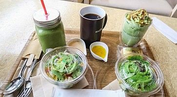 Pranzo vegano al Brooks Cafe.
