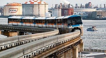 Treno monorotaia che collega il centro di Tokyo all'aeroporto di Haneda.