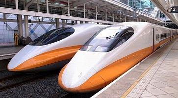 Treni Shinkansen in stazione
